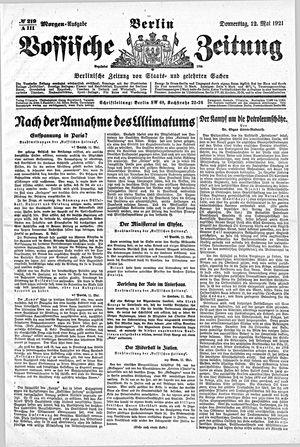 Vossische Zeitung vom 12.05.1921