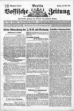 Vossische Zeitung vom 13.05.1921