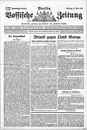 Vossische Zeitung vom 15.05.1921