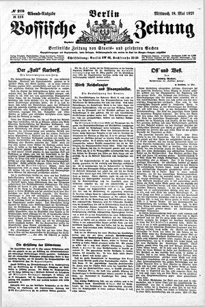 Vossische Zeitung vom 18.05.1921