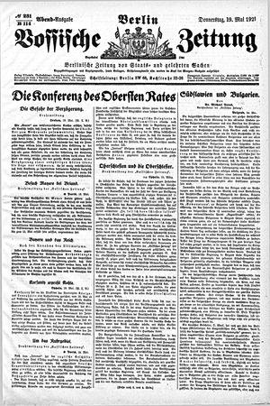Vossische Zeitung vom 19.05.1921