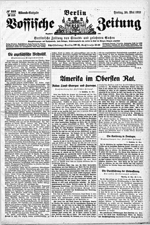 Vossische Zeitung vom 20.05.1921