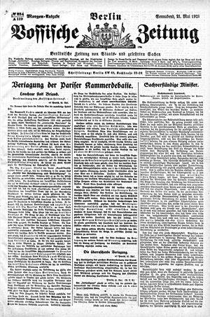 Vossische Zeitung vom 21.05.1921