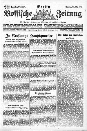 Vossische Zeitung vom 22.05.1921