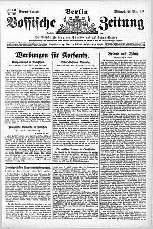 Vossische Zeitung vom 25.05.1921
