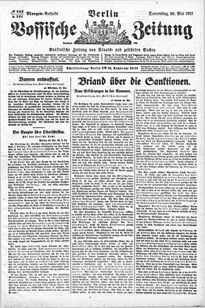 Vossische Zeitung vom 26.05.1921