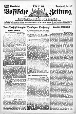 Vossische Zeitung vom 28.05.1921