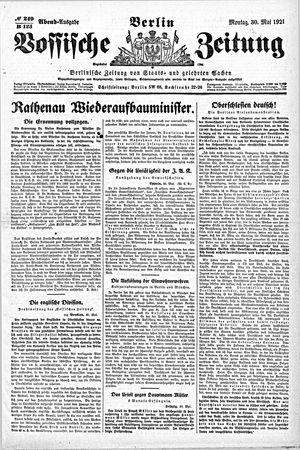 Vossische Zeitung vom 30.05.1921