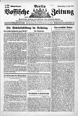 Vossische Zeitung vom 02.06.1921