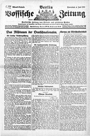 Vossische Zeitung vom 04.06.1921