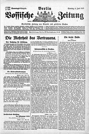 Vossische Zeitung vom 05.06.1921
