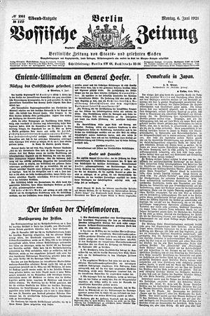 Vossische Zeitung vom 06.06.1921