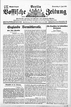 Vossische Zeitung vom 09.06.1921