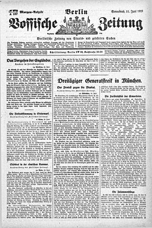 Vossische Zeitung vom 11.06.1921