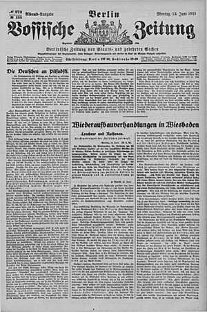 Vossische Zeitung vom 13.06.1921