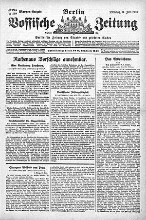 Vossische Zeitung vom 14.06.1921