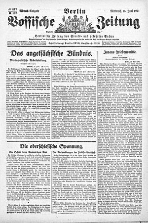 Vossische Zeitung vom 15.06.1921