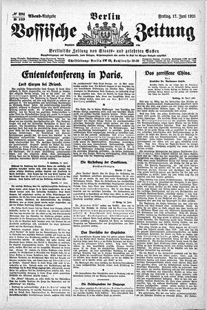 Vossische Zeitung vom 17.06.1921