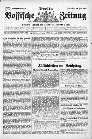 Vossische Zeitung vom 18.06.1921