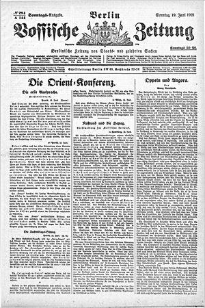 Vossische Zeitung vom 19.06.1921