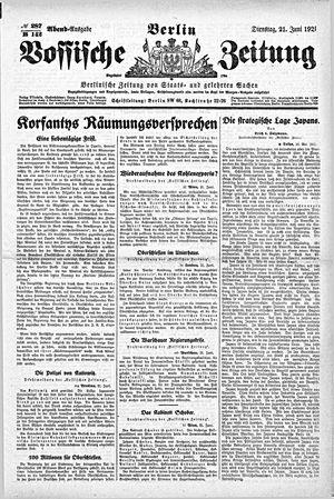Vossische Zeitung vom 21.06.1921