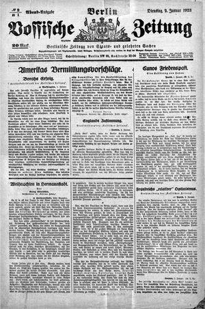 Vossische Zeitung vom 02.01.1923