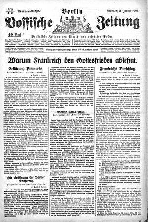 Vossische Zeitung on Jan 3, 1923