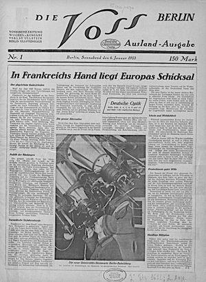 Vossische Zeitung vom 06.01.1923
