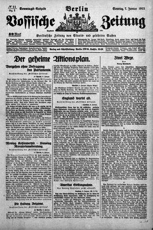 Vossische Zeitung vom 07.01.1923