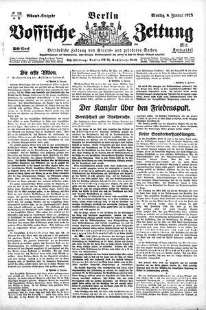 Vossische Zeitung vom 08.01.1923