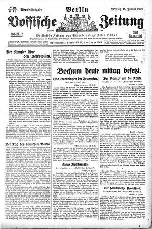 Vossische Zeitung vom 15.01.1923