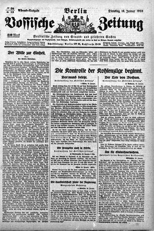 Vossische Zeitung vom 16.01.1923