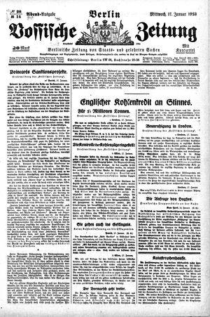 Vossische Zeitung vom 17.01.1923