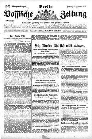 Vossische Zeitung vom 19.01.1923