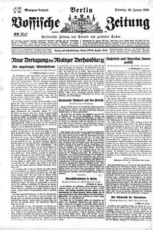 Vossische Zeitung vom 23.01.1923