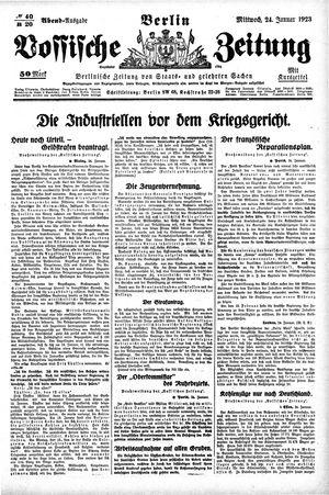 Vossische Zeitung on Jan 24, 1923