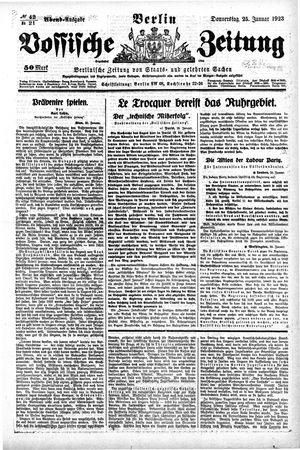 Vossische Zeitung vom 25.01.1923