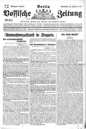 Vossische Zeitung vom 27.01.1923