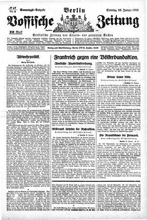 Vossische Zeitung vom 28.01.1923