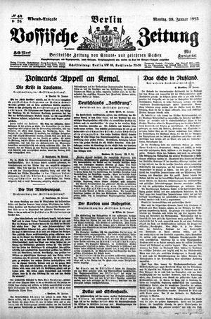 Vossische Zeitung on Jan 29, 1923