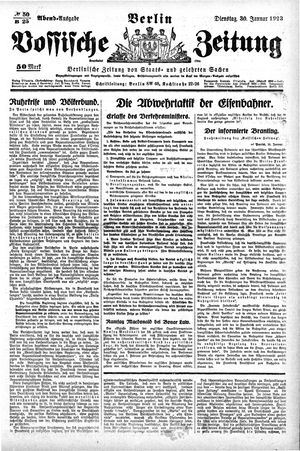 Vossische Zeitung vom 30.01.1923