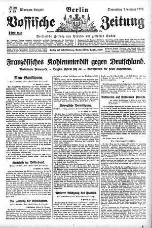 Vossische Zeitung on Feb 1, 1923