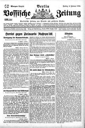 Vossische Zeitung vom 02.02.1923