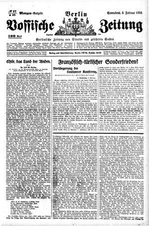 Vossische Zeitung on Feb 3, 1923