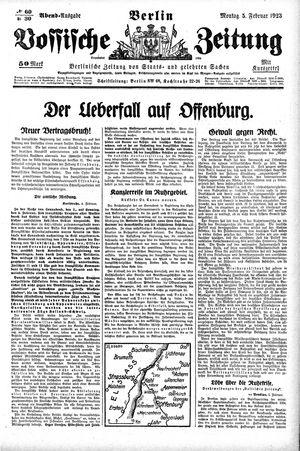 Vossische Zeitung vom 05.02.1923