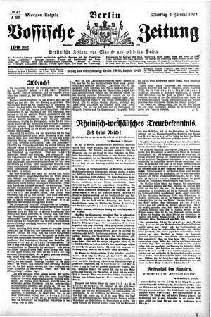 Vossische Zeitung vom 06.02.1923