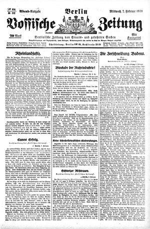 Vossische Zeitung vom 07.02.1923