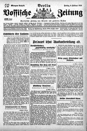 Vossische Zeitung vom 09.02.1923