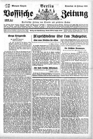 Vossische Zeitung vom 10.02.1923