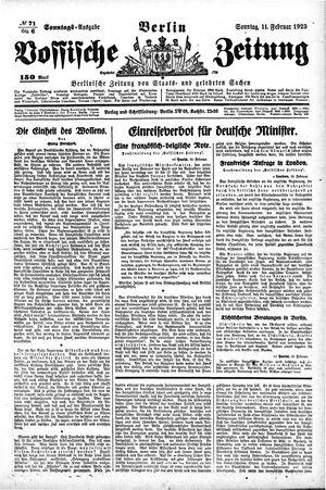 Vossische Zeitung vom 11.02.1923